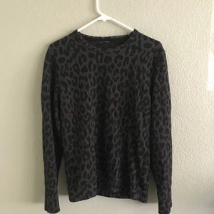 Other - Gray Leopard Print Sweater
